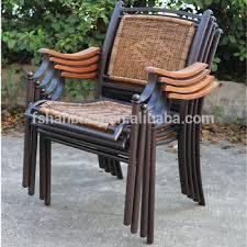 2016 new design stackable outdoor resin wicker rattan chair metal