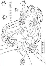 pretty anime coloring pages coloringstar