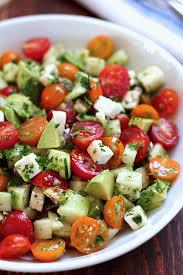 tomato cucumber avocado salad green valley kitchen