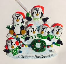 6 family penguin ornament personalized christmas ornament