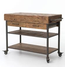 kitchen island and cart industrial reclaimed wood kitchen island cart on wheels zin home