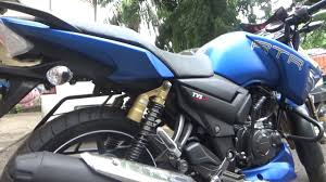 pujo automobile on demand tvs apache rtr180 matte blue color review youtube