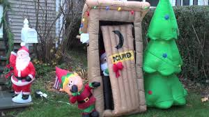 Blow Up Christmas Decorations Sale by Boddy Cahill Christmas Animated Embarrassed Outhouse Santa Elf