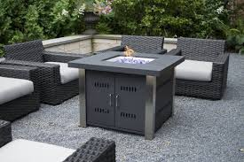 Outdoor Propane Firepit Pleasant Hearth Montreal Stainless Steel Propane Pit Table