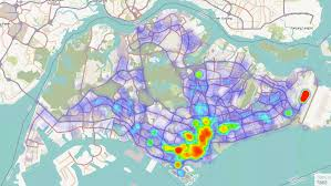 Singapore Map World by This Heatmap Shows You Where All Of Singapore U0027s Taxis Are