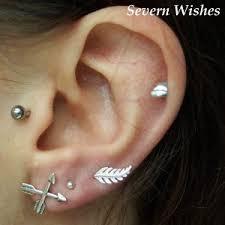 one ear earring graduated lobe piercings styles and jewellery severn wishes