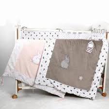 Baby Duvet Velvet Baby Crib Bedding Comforter With Rabit Embroidery Cotton