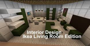 minecraft interior design living room ikea edition minecraft