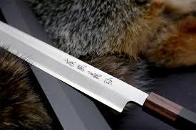 left handed kitchen knives yoshihiro left handed vg 10 stainless steel yanagi rosewood handle