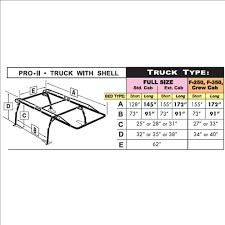 Ford F250 Truck Topper - kargo master heavy duty pro ii pickup truck topper ladder rack for