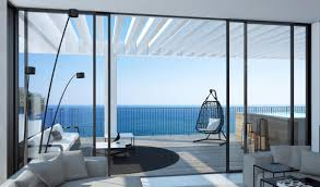 sea view living room amazing view at the beautiful room from the modern house design