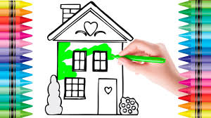 coloring house paint colouring pages for kids learn colors with
