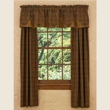 country point valance curtains primitive spice 72
