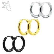 clip on hoop earrings small hoop earrings silver gold stainless steel hoop earring for