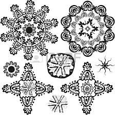 floral ornamental pattern set for design royalty free cliparts