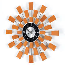 Mid Century Modern Fabric Reproductions Mid Century Modern Wall Clocks The Foundary Hayneedle