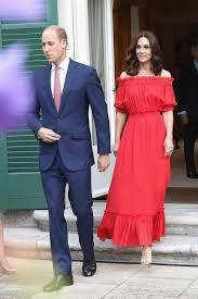 kate middleton red off the shoulder dress kate middleton off the