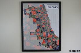 Chicago Map Poster by Chicago Typography Neighborhood Map U2013 Joe Mills
