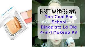 la makeup school cool for school dinoplatz la ola impression and