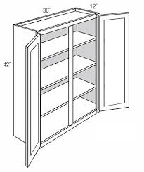 wall kitchen cabinet with glass doors in white gw3642 wall cabinet with glass doors dover castle rta