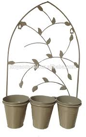 Wrought Iron Wall Planters by Decorative Wrought Iron Wall Hung Black Patio Baskets And Planters