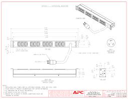 wall mount pdu apc ap9566 basic 1u pdu 16a 208 208vac l6 20p 12 c13