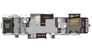 Big Country 5th Wheel Floor Plans Keystone Raptor 425ts 5th Wheel Toy Hauler For Sale