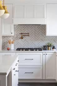 white kitchen cabinets with light grey backsplash 42 colorfull herringbone backsplash ideas trendy
