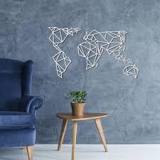 aluminum metal map wall mural sculpture within world new metal wall art for world map