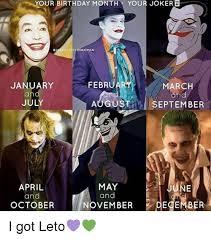 March Birthday Memes - your birthday month your joker toryofthe batman februar january