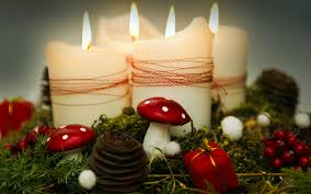 christmas celebration beautiful candle lights hd wallpapers rocks