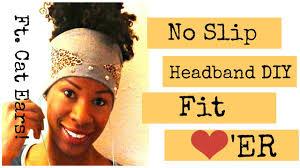 headbands that don t slip diy i no slip fitness headband ft cat ears