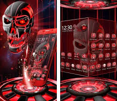 thema apk 3d tech blood skull theme apk version 1 1 5 neon