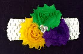 mardi gras headband nola gifts decor mardi gras baby infant fabric stretch headband