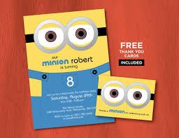 printable minion birthday invitations personalized despicable