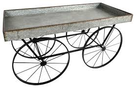 flower cart galvanized tin tray flower cart on wheels industrial outdoor