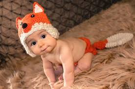 Baby Animal Halloween Costumes Lovely Fox Newborn Baby Photography Props Knitted Infant Baby