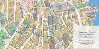 Map Of Boston Ma Bostonmap Mmcvey2010 Skiffleboom Michael Mcvey Skiffleboom