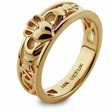 the claddagh ring gold claddagh ring ulg 6157y in 14k yellow gold