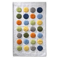 Bathroom Rugs For Kids - blue orange green yellow dot rug kids bath kid u0027s rooms