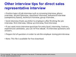 sles of thank you notes direct sales representative questions and answers