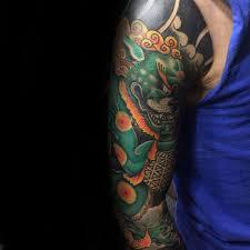 green foo dogs 100 foo dog tattoo designs for men gaurdian lions