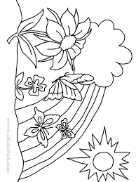 free printable tree coloring pages for kids for trees plants and
