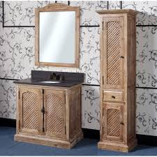 WK Series  Inch Rustic Single Sink Bathroom Vanity Natural Oak - 36 inch single sink bathroom vanity