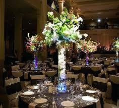 wedding center ideas led lights for floral arrangements or clear trumpet vases