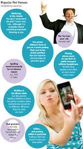 smartphones in restaurants or bad grammar what are your pet