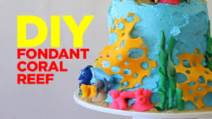 finding dory fondant coral reef easy cake decor youtube