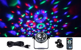 mini disco ball light amazon com wowtou rgb led mini disco ball party light show with