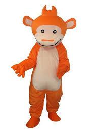 Gorilla Halloween Costume Children Size Cute Orange Gorilla Monkey Mascot Costume Fur Suit