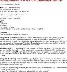 receptionist job cover letter application letter for medical